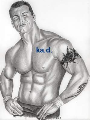 Portrait Of Randy Orton By Kad On Stars Portraits